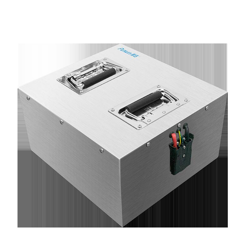 AGV无人车机器人48V40Ah 大电流 不锈钢 IP68防爆 通讯CAN/RS485协议 锂电池